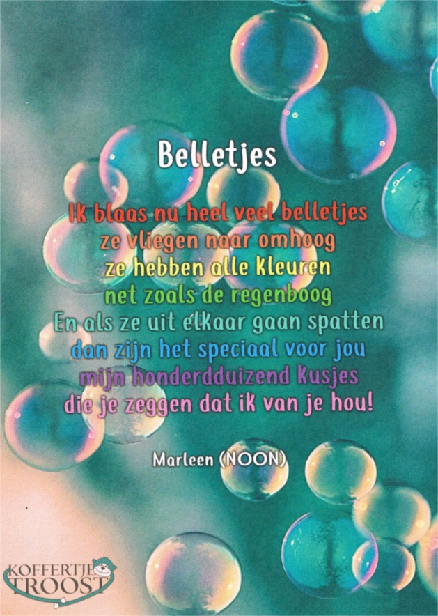 Belletjes-kaart